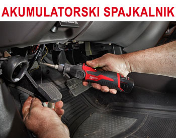 Praktično spajanje za avtomehanike s spajkalnikom Milwaukee